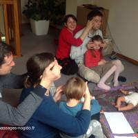 Atelier massage parent-enfant à domicile